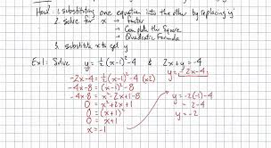 solving non linear systems