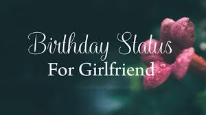 birthday status for girlfriend lovely wishes messages