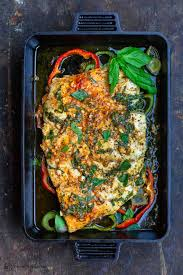 Easy Baked Fish with Garlic and Basil ...