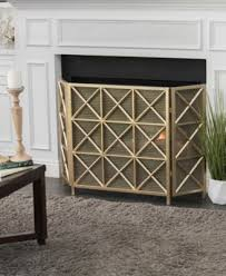 fireplace screen quick ship gold