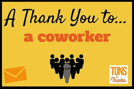 20 exle thank you notes to coworkers