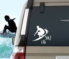 Male Surfer Sticker Surf Life Decal Surfing Window Sticker Etsy Window Stickers Surfing Computer Decal