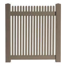 Veranda 4 Ft W X 4 Ft H Cedar Grove Chestnut Brown Vinyl Picket Fence Gate 8898350ghd The Home Depot