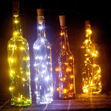 wine bottle lights cork battery powered
