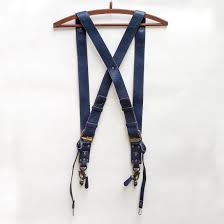 Leather Double Camera Strap Harness - Brown - The Black Canvas