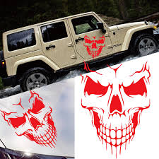 Car Exterior Decoration Xotic Tech Auto Front Hood Vinyl Graphic Sticker Truck Trailer Boat Door Window Decal 1pcs Red Skull Shape Walmart Com Walmart Com