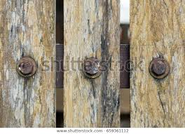 Old Wooden Fence Old Rust Screw Stock Photo Edit Now 659361112