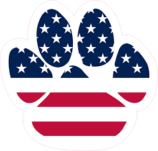 4 75in X 5in Patriotic Paw Print Bumper Sticker Vinyl Car Window Decal Stickertalk