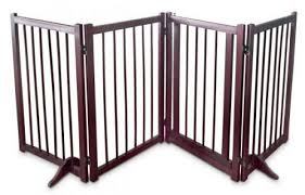 Folding Wooden Dog Fence Self Standing Barrier Portable Panels Product Launched