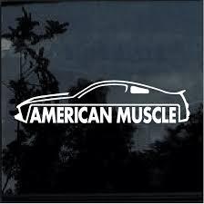 American Muscle Ford Mustang Window Decal Sticker Custom Sticker Shop