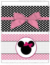 Minnie Mouse Refreshment Printable Festa Minnie Estampas