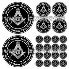 Masonic Vinyl Decal Sticker Freemason Emblems Etsy