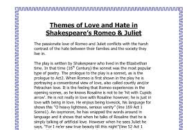 sparknotes romeo and juliet a student essay