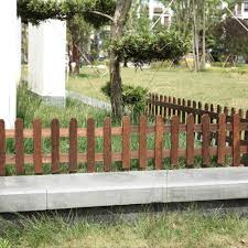 Han Wood Picket Garden Fence Garden Lawn Fence Edging Fencing For Outdoors Shopee Singapore