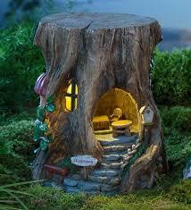 miniature fairy garden solar staircase