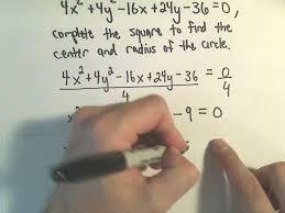 center radius form of a circle