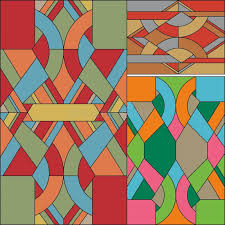 colored geometric pattern art deco