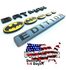Batman Family Edition Emblem Tailgate Truck Trunk Logo Car Decal Suv Fenders Ebay