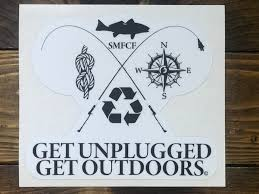Get Unplugged Get Outdoors Window Decal Sol Margin Fishing Conservation Foundation