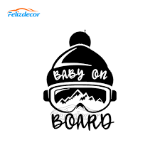 15 20cm Baby On Board Snowboarding Car Sticker Ski Snow Baby Sign Car Decals Family Auto Decor Vinyl Hot Selling L1031 Car Stickers Aliexpress