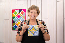 easy cathedral window block with jenny