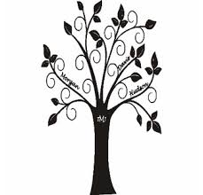 Personalized Family Tree Vinyl Wall Decal