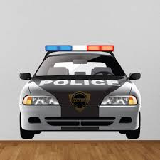 Police Car Wall Decal Sticker Ws 41209 Police Cars Cars Room Car Decals Vinyl