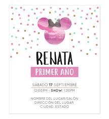 Invitacion Cumpleanos Minnie Pink Tarjeta De Cumpleanos Minnie