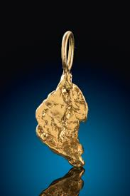 tapered natural gold nugget pendant
