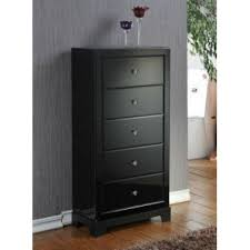 5 drawer mirrored tallboy dresser