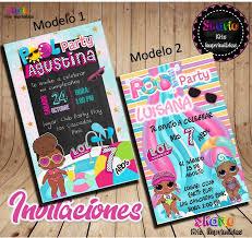 Invitacion Digital Munecas Lol Surprise Piscinada Pool Party
