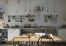 organized hostel kitchen in barcelona
