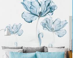 Blue Wall Decals Etsy