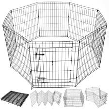 Yescom 24 48 Tall 8 Panels Pet Dog Play Pen Puppy Fence Step Thru Do Yescomusa