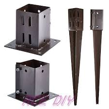 Fence Post Spikes Shoes Easy Grip 50 75 100mm Garden Timber Support Stakes Bolt Down Holders 7 50mm X 450mm Bolt Spike