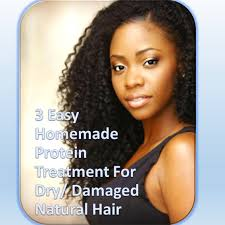dry damaged natural hair