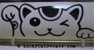Maneki Neko Lucky Cat Peeking Peek A Boo Jdm Decal Maneki Neko Lucky Cat Peeking Peek A Boo Jdm Decal 3 50 Lucky Cat Decals