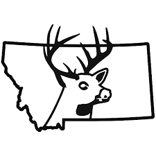 Montana State Deer Buck Hunting Vinyl Decal Sticker