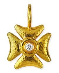 maltese cross yellow jewelry neiman