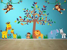 Safari Friends Baby Jungle Wall Decals Yendo Print