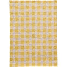 zager hand hooked yellow white area rug