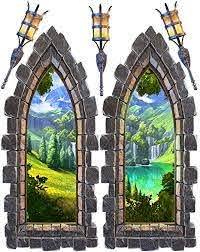 Amazon Com Castle Window Large Wall Decal Set Arts Crafts Sewing