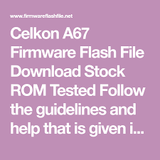 Celkon A67 Firmware Flash File Download ...