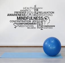 Vinyl Wall Decal Mindfulness Meditation Yoga Zen Relaxation Stickers M Wallstickers4you