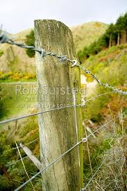 Old Farm Fence Strainer Post And Barbed Wire New Zealand Nz Stock Photo From New Zealand Nz Photos And Stock Photography By Rob Suisted