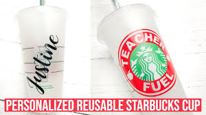 Personalized Starbucks Cup With Cricut Cricut Starbucks Cup Template Youtube