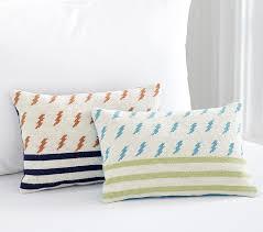 Lightning Bolt Decorative Kids Pillows Pottery Barn Kids