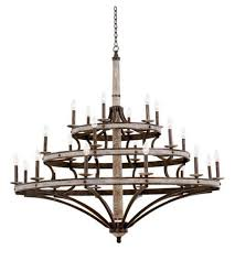 3 tier chandelier in florence gold 7044fg