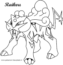 Raikou Coloring Pages At Getdrawings Free Download