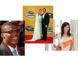 Cam Newton, Chandra and Jimmie Johnson, and Ivy Robinson ...